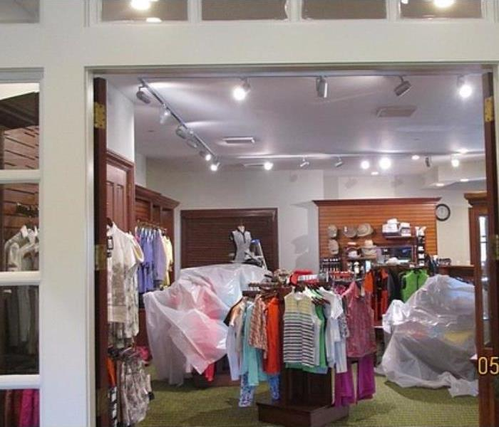 Clothing Store Water Damage Before